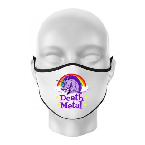 Masca personalizata reutilizabila Death Metal Alb