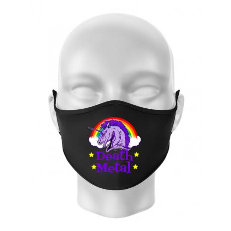 Masca personalizata reutilizabila Death Metal Negru