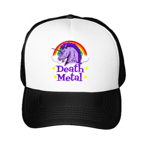 Sapca personalizata Death Metal Alb
