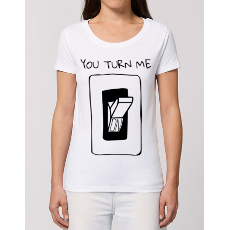 Tricou STANLEY STELLA dama You turn me on Alb