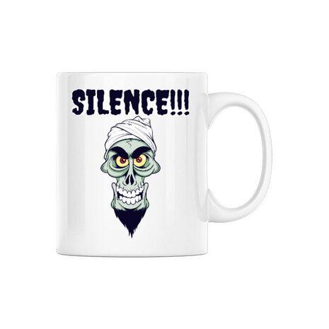Cana personalizata Silence Alb
