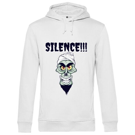 Hoodie barbat cu gluga Silence Alb
