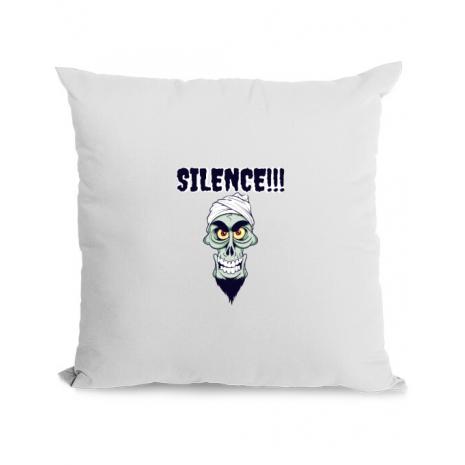 Perna personalizata Silence Alb