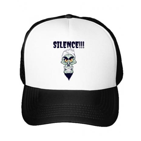Sapca personalizata Silence Alb