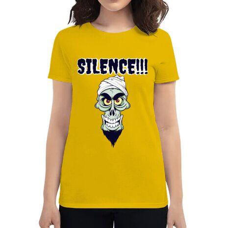 Tricou ADLER dama Silence Galben