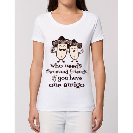 Tricou STANLEY STELLA dama One amigo Alb