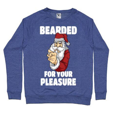 Bluza ADLER barbat Bearded for your pleasure Albastru melanj