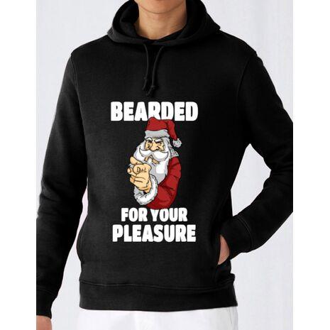 Hoodie barbat cu gluga Bearded for your pleasure Negru