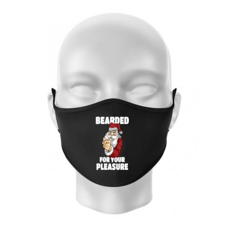 Masca personalizata reutilizabila Bearded for your pleasure Negru
