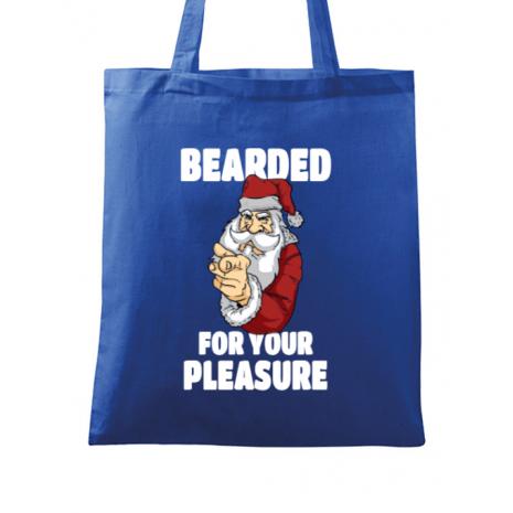 Sacosa din panza Bearded for your pleasure Albastru regal