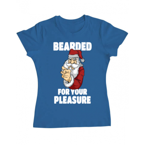 Tricou ADLER dama Bearded for your pleasure Albastru azuriu