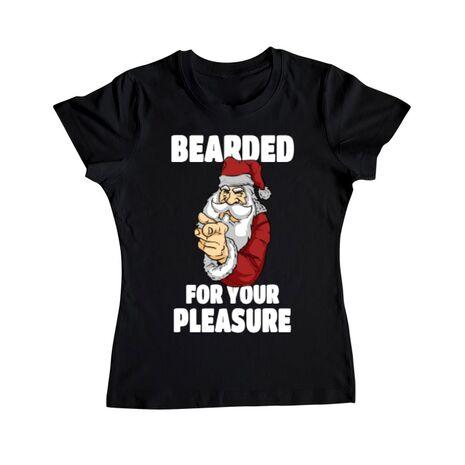 Tricou ADLER dama Bearded for your pleasure Negru