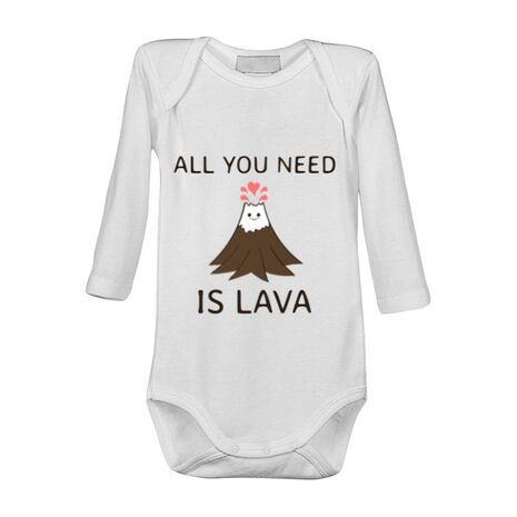 Baby body All you need is lava Alb