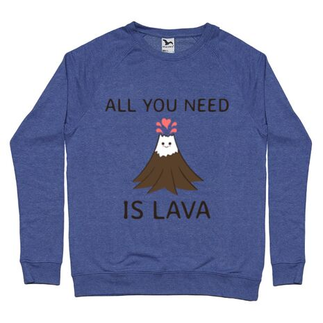 Bluza ADLER barbat All you need is lava Albastru melanj