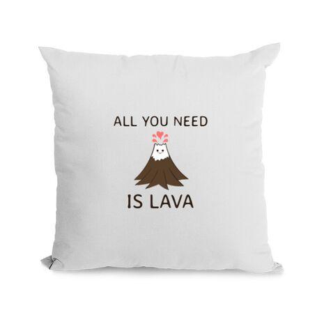 Perna personalizata All you need is lava Alb
