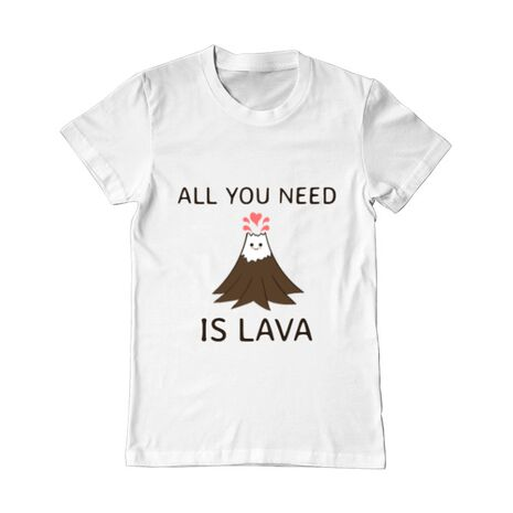 Tricou ADLER barbat All you need is lava Alb
