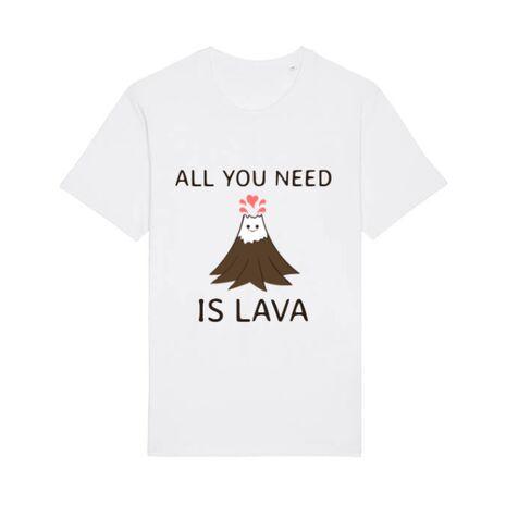 Tricou STANLEY STELLA barbat All you need is lava Alb