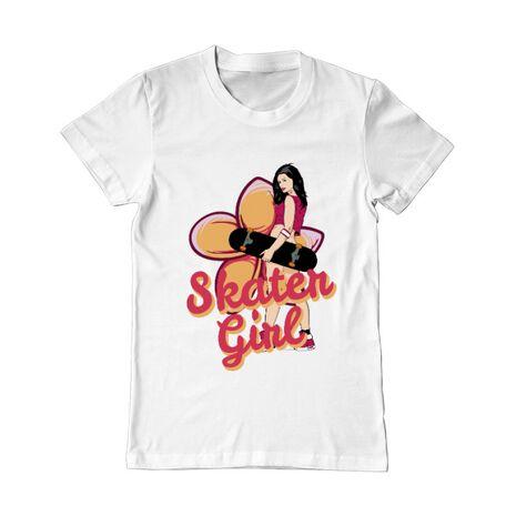 Tricou ADLER barbat Skater Girl Alb