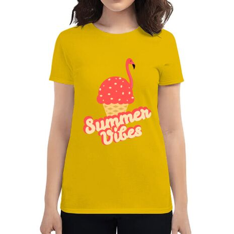 Tricou ADLER dama Summer Vibes Galben