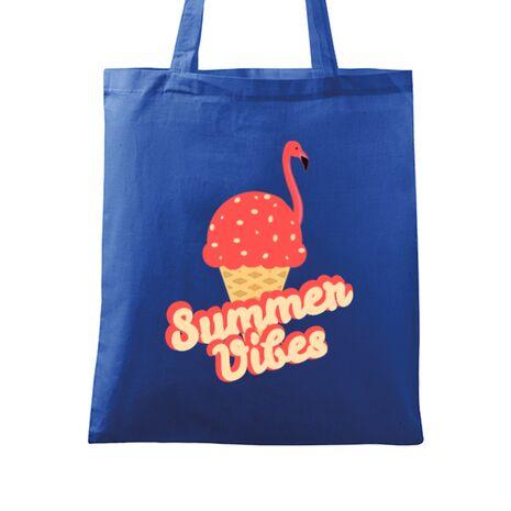 Sacosa din panza Summer Vibes Albastru regal