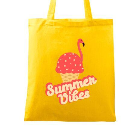 Sacosa din panza Summer Vibes Galben