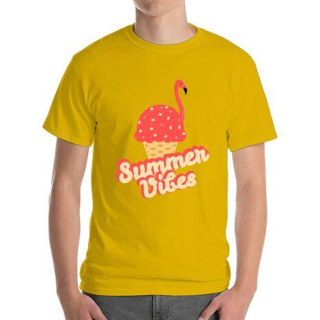 Tricou ADLER barbat Summer Vibes Galben