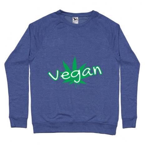 Bluza ADLER barbat Vegan Albastru melanj
