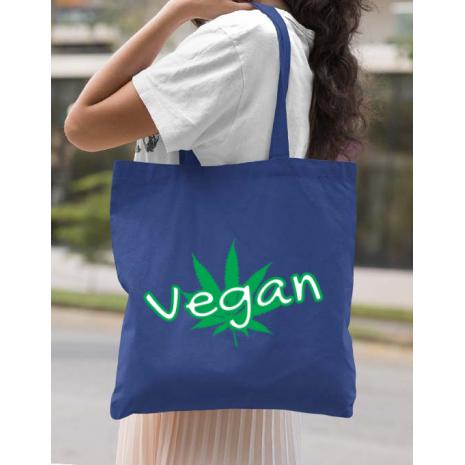 Sacosa din panza Vegan Albastru regal