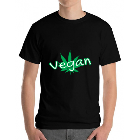 Tricou ADLER barbat Vegan Negru