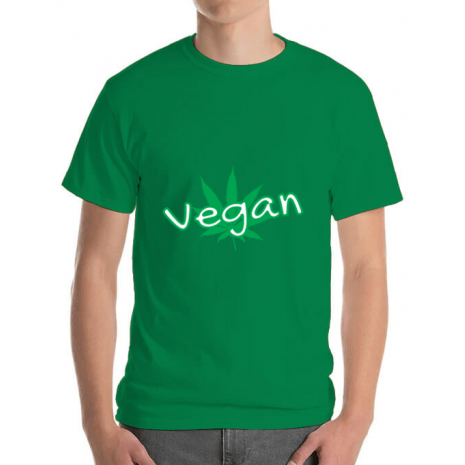 Tricou ADLER barbat Vegan Verde mediu