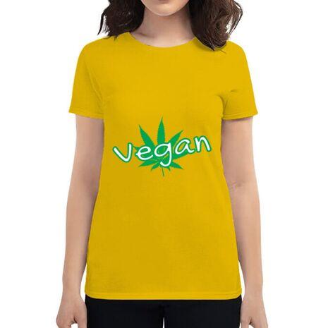 Tricou ADLER dama Vegan Galben