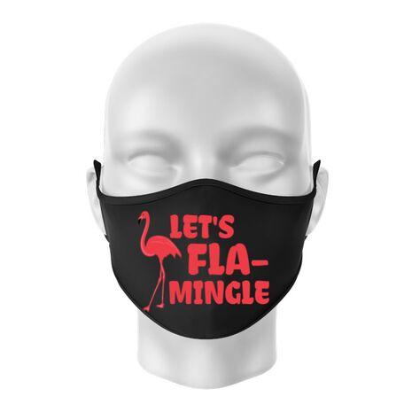 Masca personalizata reutilizabila Let's flamingle Negru