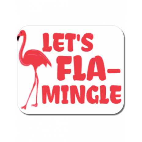 Mousepad personalizat Let's flamingle Alb