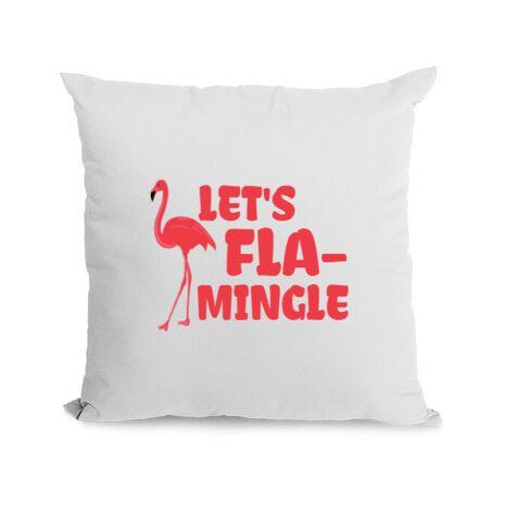Perna personalizata Let's flamingle Alb