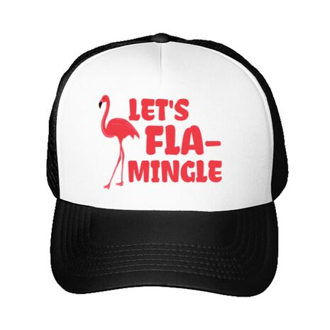 Sapca personalizata Let's flamingle Alb