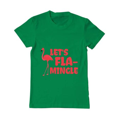 Tricou ADLER barbat Let's flamingle Verde mediu