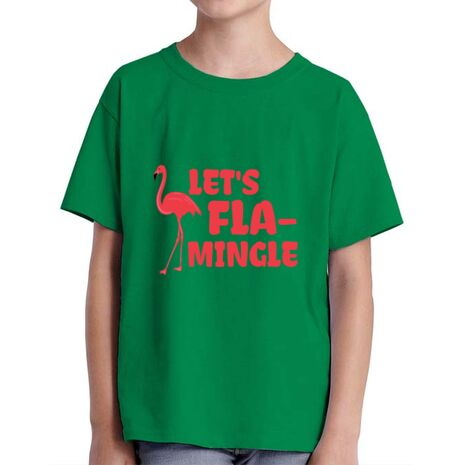 Tricou ADLER copil Let's flamingle Verde mediu