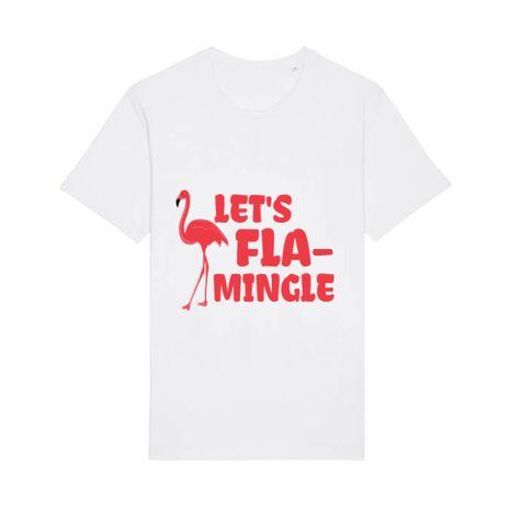 Tricou STANLEY STELLA barbat Let's flamingle Alb