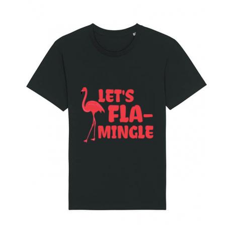 Tricou STANLEY STELLA barbat Let's flamingle Negru