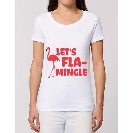 Tricou STANLEY STELLA dama Let's flamingle Alb