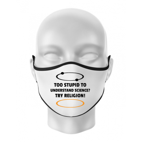 Masca personalizata reutilizabila Try religion Alb