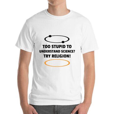 Tricou ADLER barbat Try religion Alb