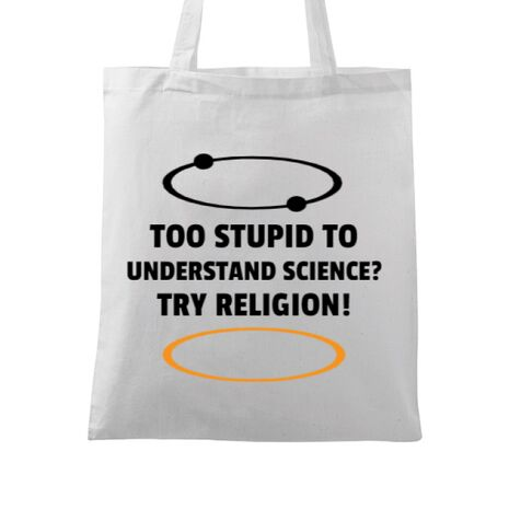 Sacosa din panza Try religion Alb