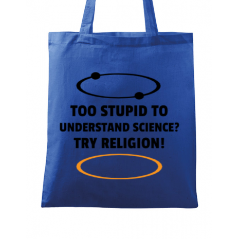 Sacosa din panza Try religion Albastru regal