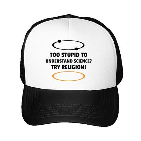Sapca personalizata Try religion Alb