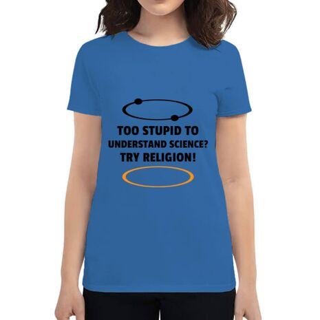 Tricou ADLER dama Try religion Albastru azuriu