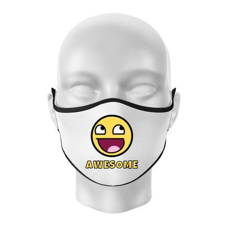 Masca personalizata reutilizabila Awesome Alb