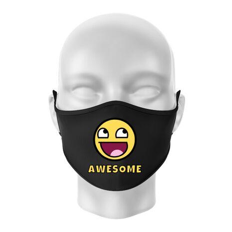 Masca personalizata reutilizabila Awesome Negru