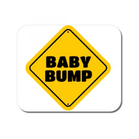 Mousepad personalizat Baby bump Alb