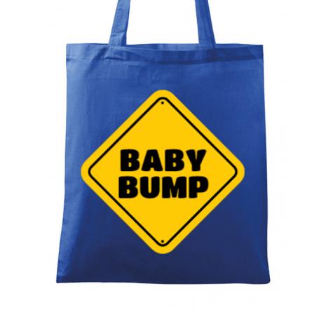 Sacosa din panza Baby bump Albastru regal
